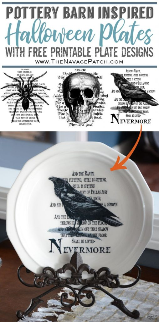 Pottery Barn Inspired Halloween Plates - TheNavagePatch.com