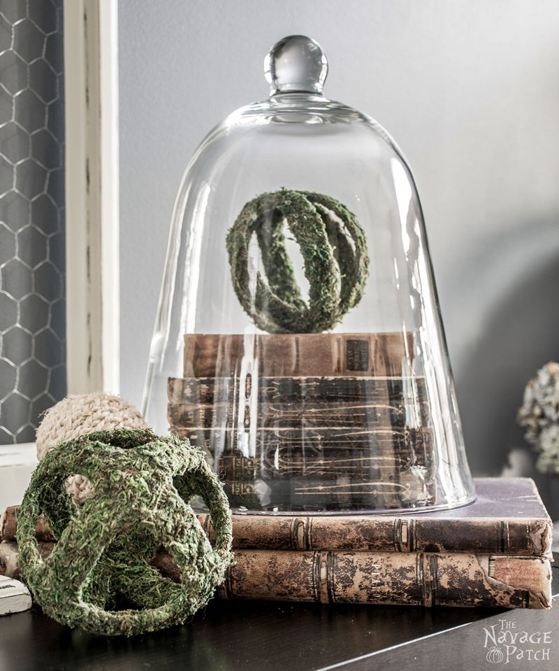 DIY Moss Balls and Topiaries   DIY moss topiary and faux moss balls   How to make a topiary the easy way   DIY French Country style home decor   How to make a moss ball   Upcycled spring decoration   #TheNavagePatch #Upcycled #DIY #crafts #FrenchCountry #Farmhouse #Springdecor   TheNavagePatch.com