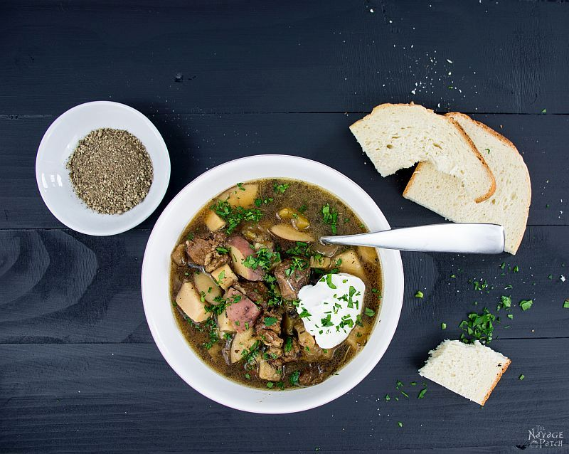Beef Stew with Parsnips & Dried Mushrooms | TheNavagePatch.com
