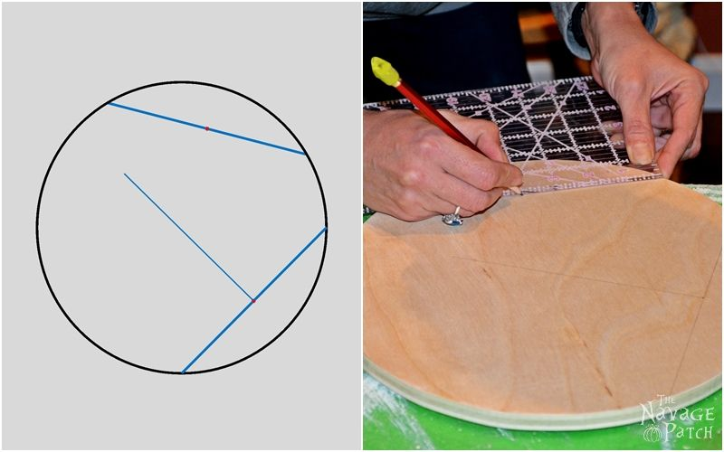 How to Find the Center of a Circle | The easy way of finding the center of a circle | A step-by-step tutorial for finding the center of a circle | TheNavagePatch.com