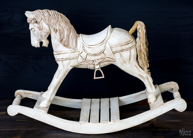 Rocking Horse Makeover | DIY Vintage Horse Makeover | Updating Home Decor  With Homemade Chalk Paint