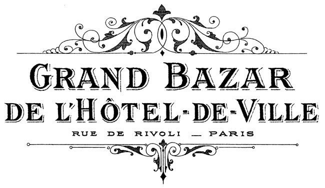French Grands Bazaar by The Graphics Fairy