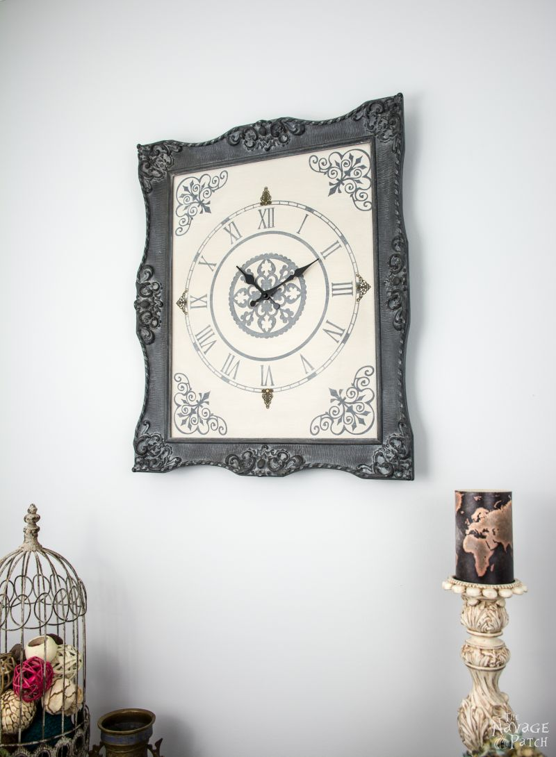 Making a wall clock images home wall decoration ideas ornate frame to wall clock the navage patch ornate frame to wall clock upcycled picture frame amipublicfo Image collections
