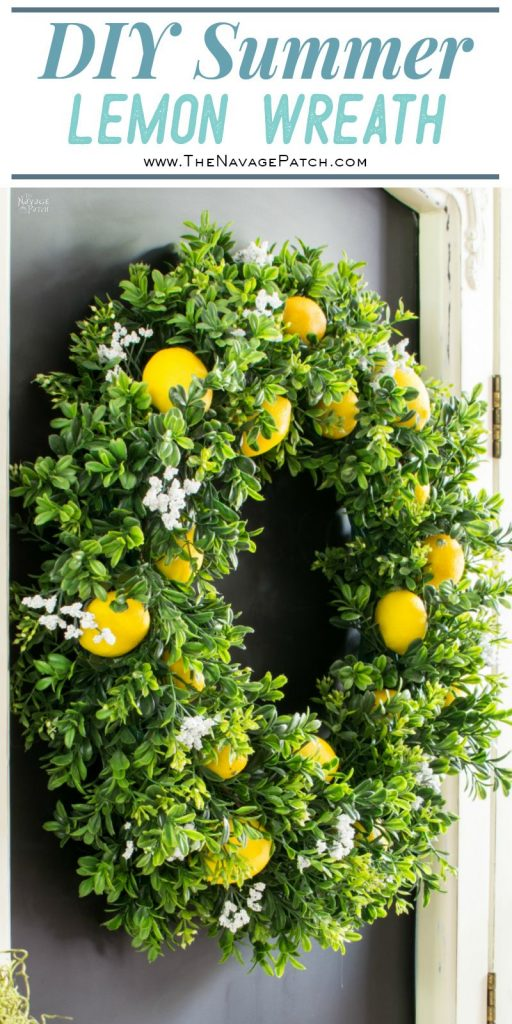 DIY Summer Lemon Wreath pin image