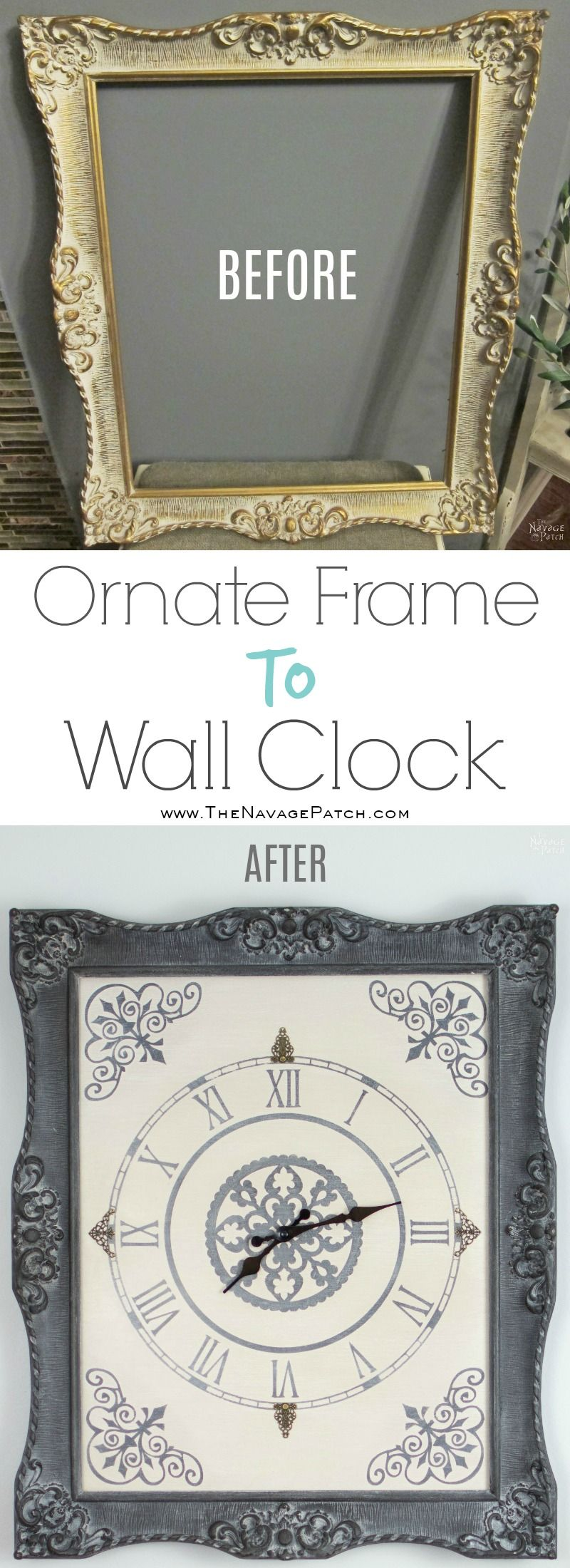 Ornate Frame to Wall Clock - The Navage Patch