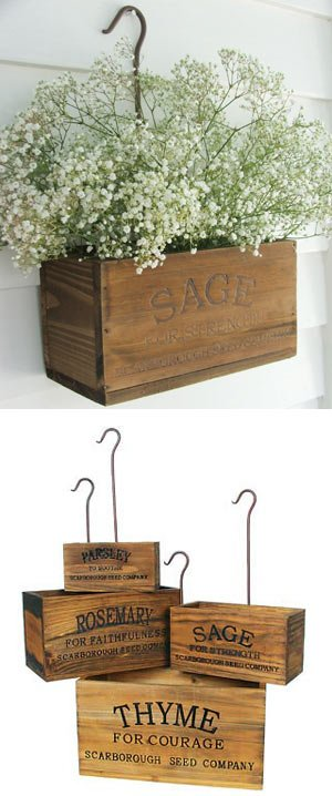 DIY nesting herb boxes | DIY wooden herb crates | Step-by-step hanging & DIY Nesting Herb Boxes - The Navage Patch Aboutintivar.Com