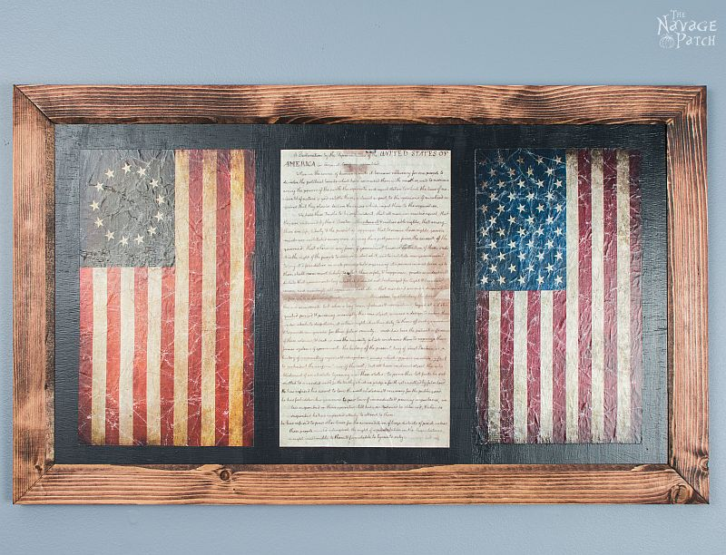 Old Glory & The Declaration of Independence: Patriotic Wall Art ...