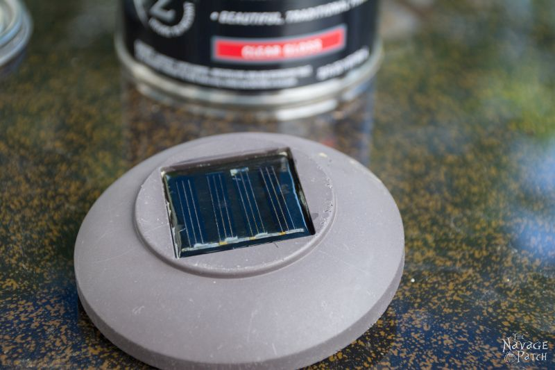 clear solar panel after having lacquer applied to it