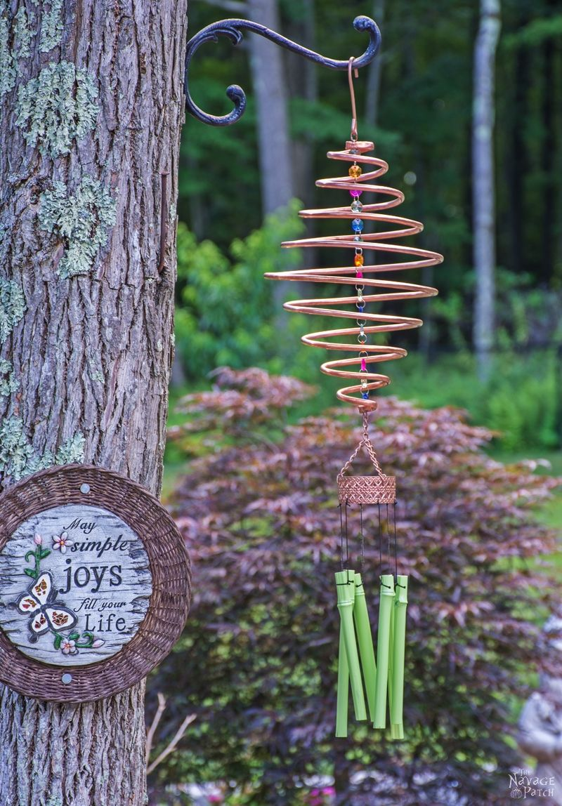 Coiled copper wind chimes the navage patch for Easy to make wind chimes