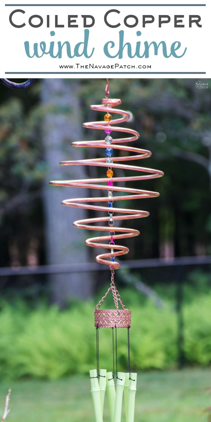 Coiled Copper Wind Chimes The Navage Patch