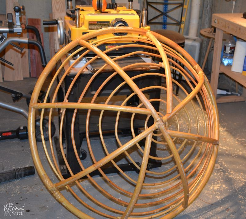 Papasan Dog Hut   Upcycling papasan chair to dog house   Simple woodworking & DIY   How to make a dog house with planters   TheNavagePatch.com