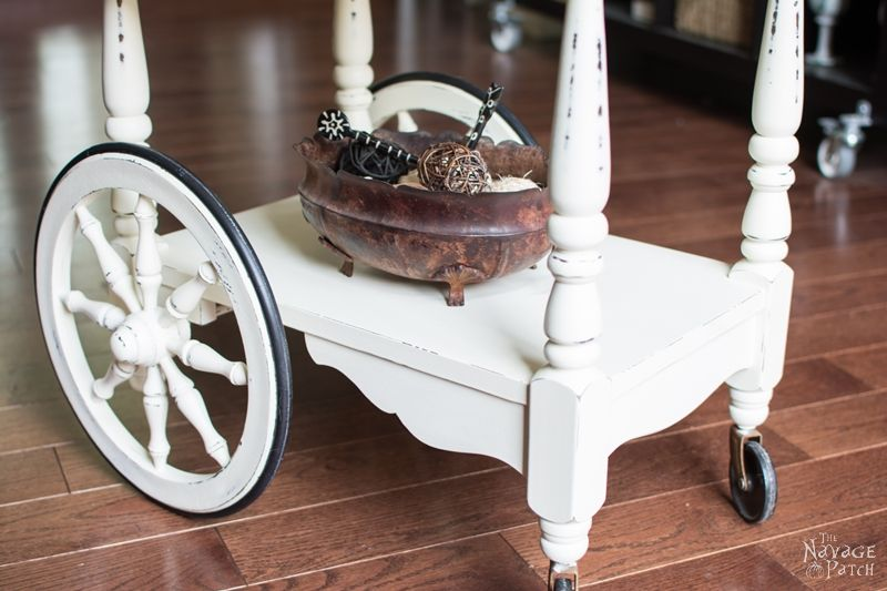 Tea Cart Makeover Diy Furniture Painted With Homemade Chalk Paint