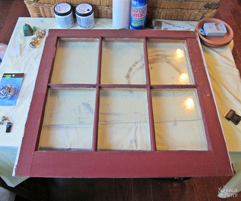 Old Window Makeover With Crackled Paint Finish | How to apply crackle paint | DIY chalk paint recipe | How to paint a window | How to test for lead | Lead paint test | Turning an old window to picture frame | #TheNavagePatch #crackledpaint #DIYchalkpaint #howto #paintedfurniture #upcycled #repurposed #easydiy #cracklepaint #chippedpaint #patina #homedecor #shabbychic | TheNavagePatch.com