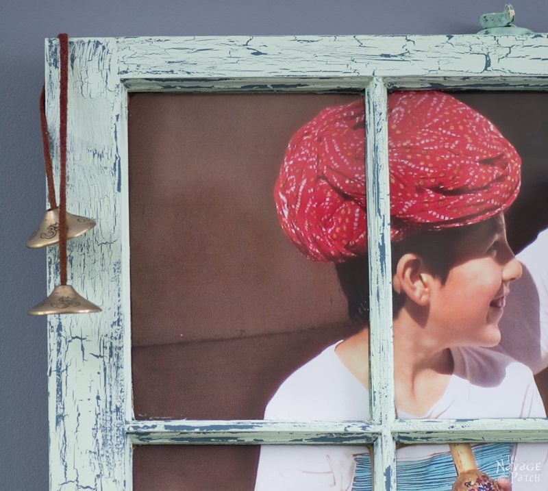 Old Window Makeover With Crackled Paint Finish   How to apply crackle paint   DIY chalk paint recipe   How to paint a window   How to test for lead   Lead paint test   Turning an old window to picture frame   #TheNavagePatch #crackledpaint #DIYchalkpaint #howto #paintedfurniture #upcycled #repurposed #easydiy #cracklepaint #chippedpaint #patina #homedecor #shabbychic   TheNavagePatch.com