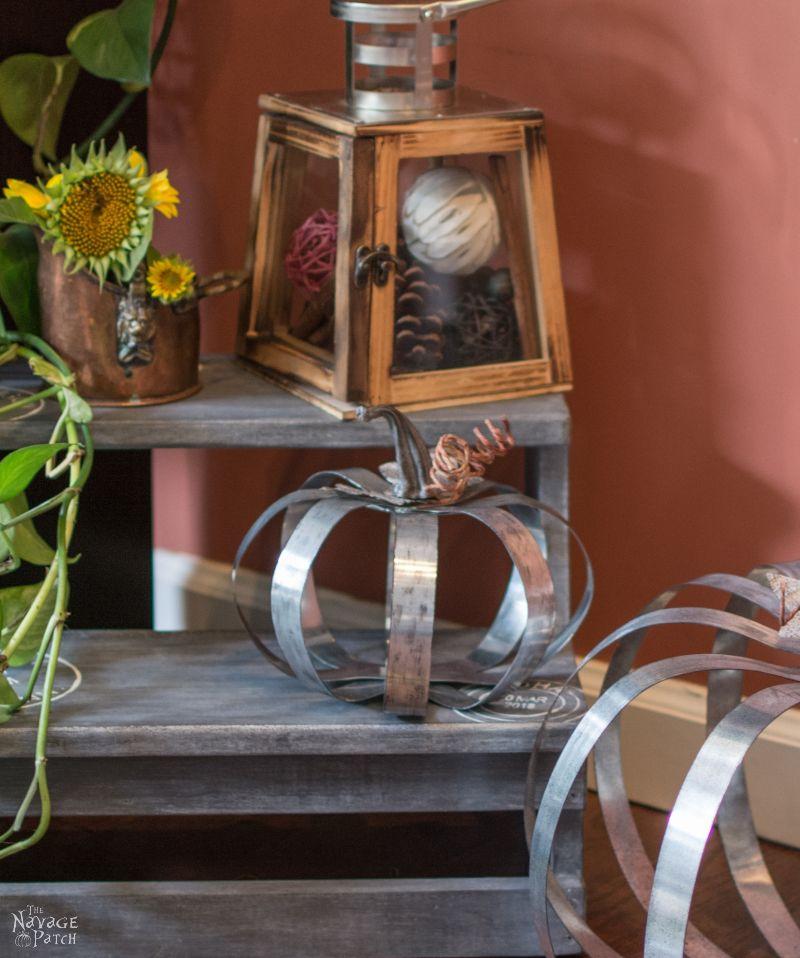 Pottery Barn Inspired Outdoor Metal Pumpkins | DIY fall decor| Pottery Barn knockoff pumpkin | DIY galvanized metal pumpkin tutorial | Fall decoration ideas | Farmhouse decor | #TheNavagePatch #PBknockoff #easydiy #Falldecorideas #pumpkin #falldecor #diy #diypumpkin #thanksgiving #PotteryBarn #MyPotteryBarn #fall #pumpkineverything | TheNavagePatch.com