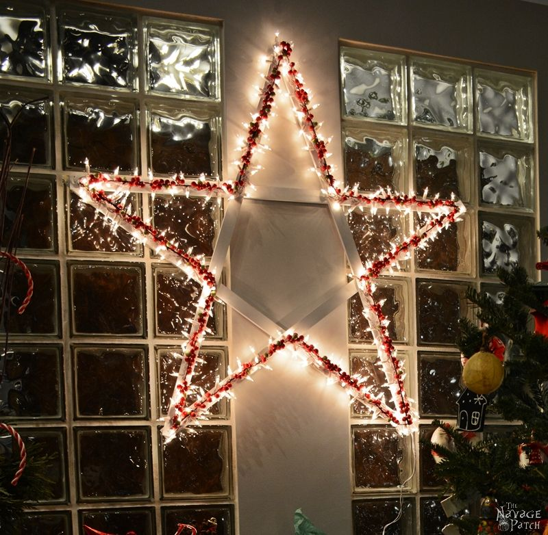 DiY Lighted Christmas Stars | Diy Christmas decoration | Festive Diy home decor | Upcycled holiday