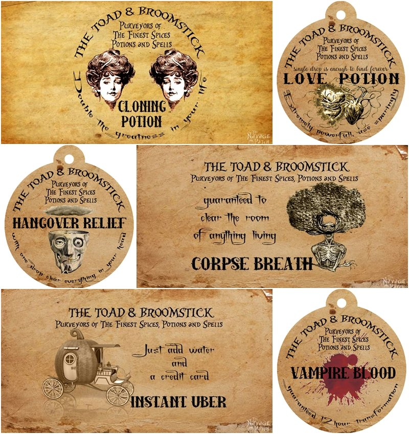 picture regarding Harry Potter Potion Book Printable identified as Apothecary Jars and Absolutely free Printable Labels - The Navage Patch