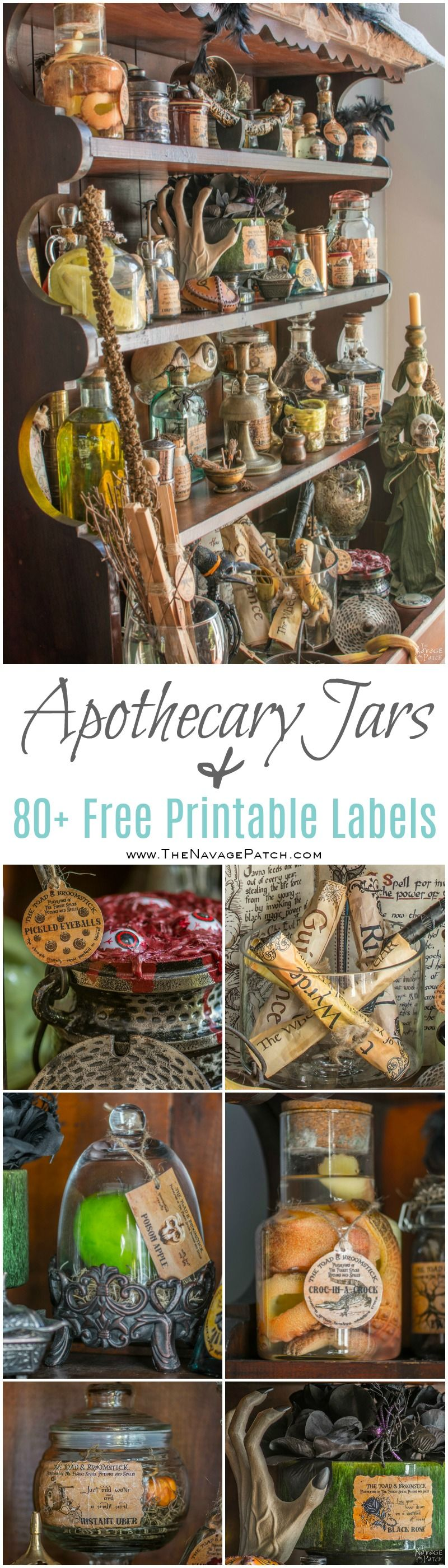graphic regarding Harry Potter Apothecary Labels Free Printable known as Apothecary Jars and Absolutely free Printable Labels - The Navage Patch