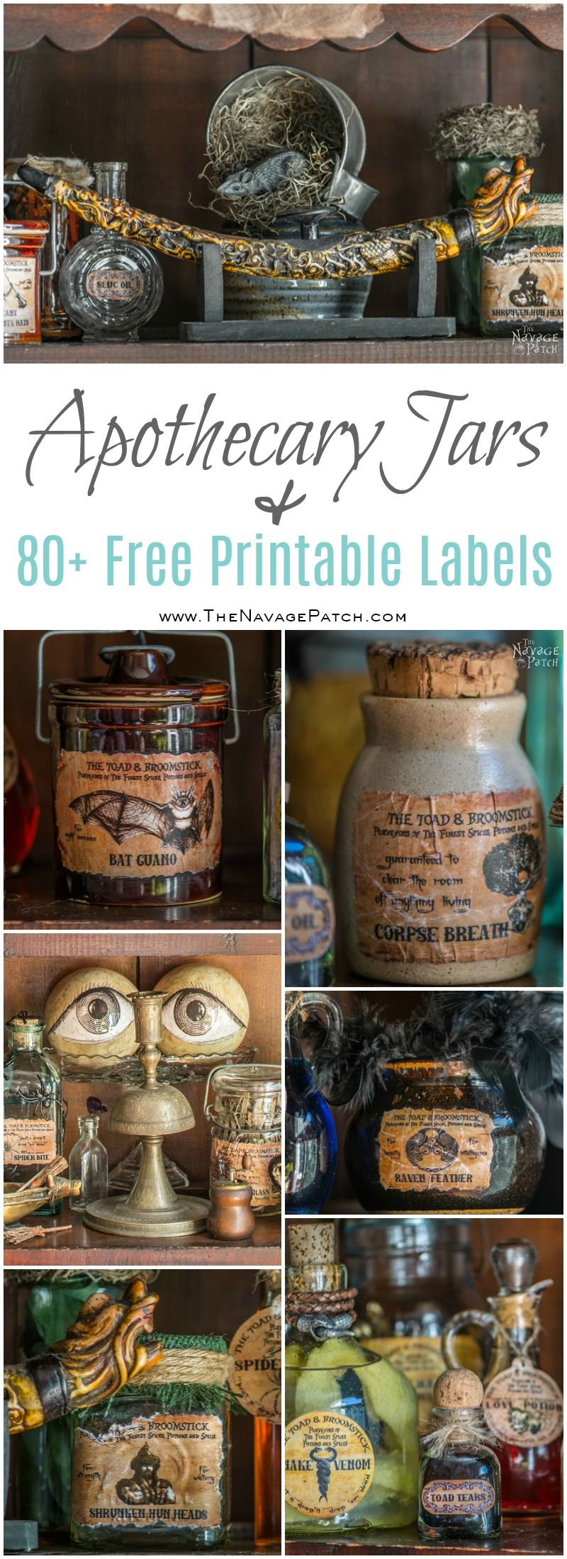 Apothecary Jars And Free Printable Labels The Navage Patch