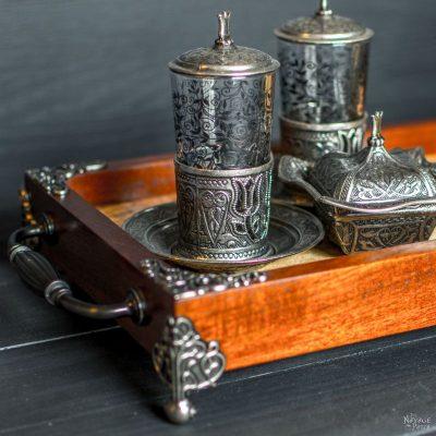 Spalted Maple & Mahogany Tea Tray