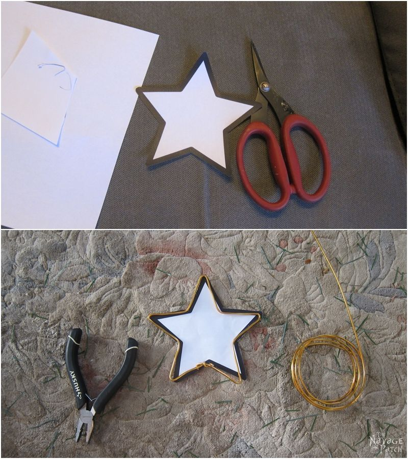 making a lighted star from a star template