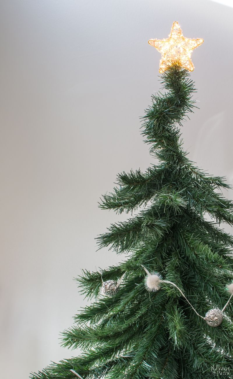 Faux Christmas Tree Repurposed into a DIY Alpine Tree