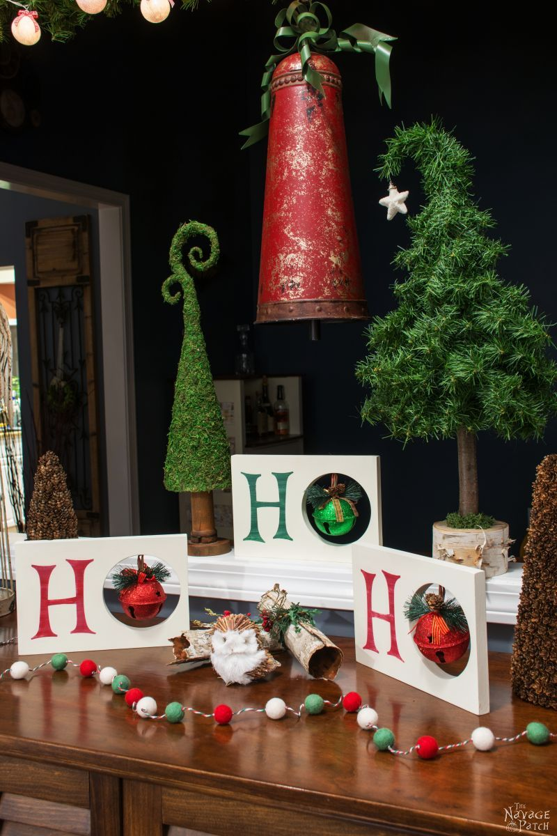 HO HO HO DIY Christmas decor | Dollar Store DIY | Upcycled Christmas decoration | DIY chalk paint | How to stencil | #TheNavagePatch #DIY #Stencil #Cricut #Christmas #Holidaydecor #DIYChristmas #Christmascrafts #easydiy #Silhouette #DIYHomedecor #Holidays #DollarStore #DollarTree | TheNavagePatch.com