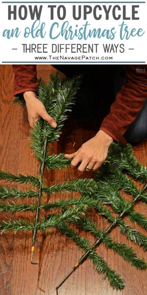 Faux Christmas Tree Repurposed Three Ways pin image