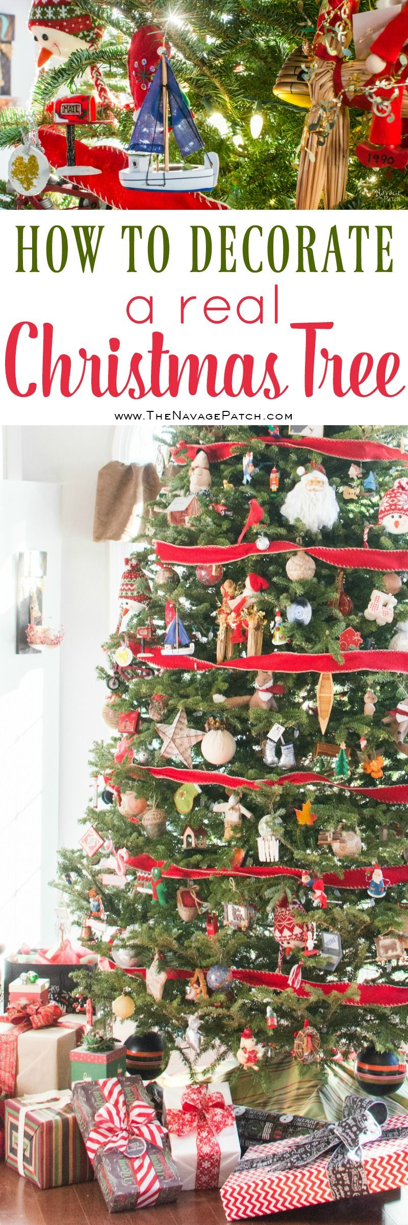 Trimming a sentimental Christmas tree | Christmas tree decoration tips | How to decorate a real Christmas Tree | How to prune your Christmas tree to give the perfect shape | DIY sentimental Christmas ornaments | Christmas traditions | Festive holiday decoration | TheNavagePatch.com