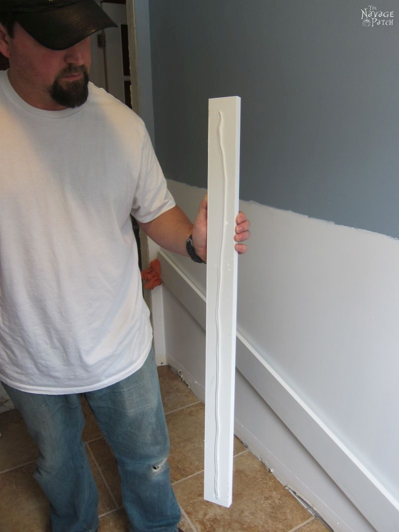 Guest Bathroom Renovation   How to install a toilet bowl   How to install wainscoting   How to install board and batten   DIY toilet bowl installation   DIY board and batten wainscoting   How to paint trim with no brush marks   How to paint windows   How to fix walls like a pro   DIY wall demolition   Best paint for bathrooms   Benjamin Moore Advance Paint   Before & After   TheNavagePatch.com