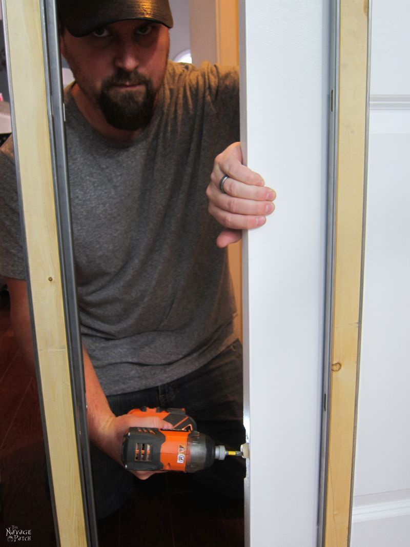 Guest Bathroom Renovation Pocket Door Installation The