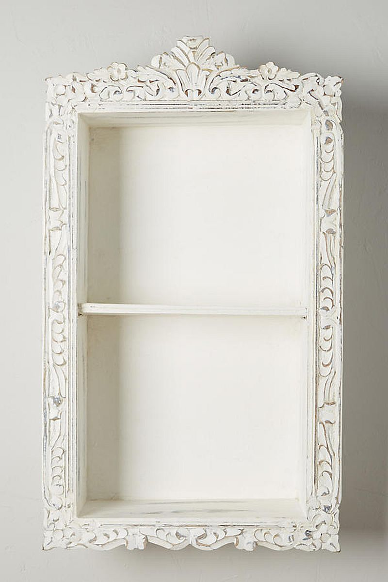 Anthropoligie inpsired storage cabinet | DIY storage cabinet | Upcycled picture frame | DIY chalk paint recipe | Anthropologie knockoff storage cabinet | How to turn picture frame to storage cabinet | DIY furniture and easy organization | DIY cabinetry and woodworking | Homemade chalk paint | Before & After | TheNavagePatch.com