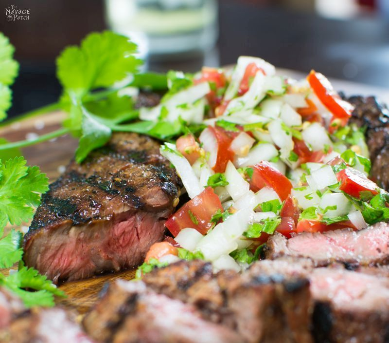 Grilled Dry-Rubbed Sirloin Tips with Sweet Onion-Cilantro Salsa | Steak | Sweet onions | Vidalia | Grilling | | TheNavagePatch.com