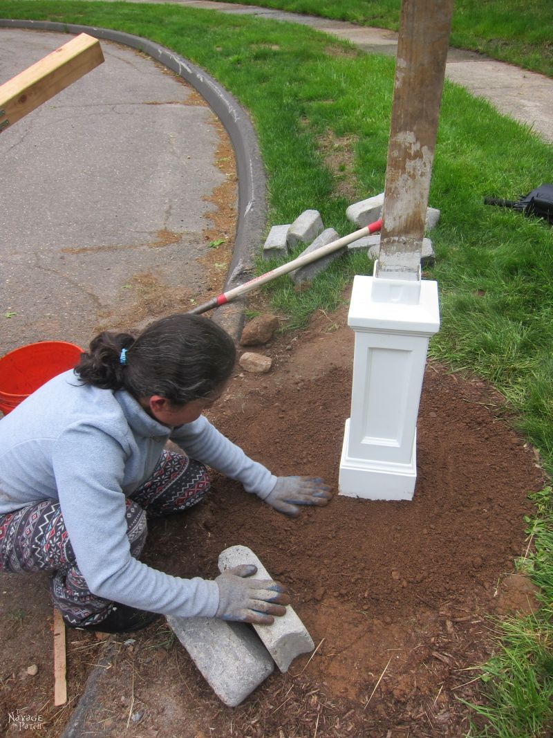 Mailbox Makeover   DIY mailbox and post installation   How to install a mailbox   How to increase curb appeal in a budget   How to remove your old mailbox   DIY mailbox landscape   #TheNavagePatch #curbappeal #DIY #tutorial #HowTo #mailbox #garden #landscaping   TheNavagePatch.com