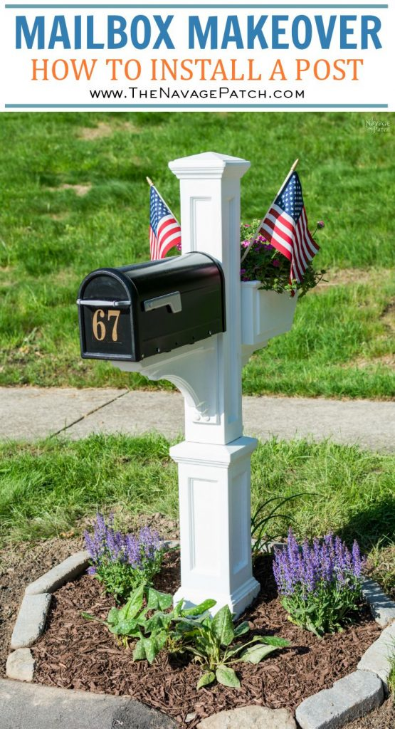 Mailbox Makeover | DIY mailbox and post installation | How to install a mailbox | How to increase curb appeal in a budget | How to remove your old mailbox | DIY mailbox landscape | #TheNavagePatch #curbappeal #DIY #tutorial #HowTo #mailbox #garden #landscaping | TheNavagePatch.com