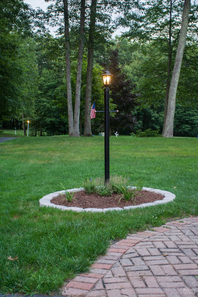 pinterest patch makeover yard lamp pin navage the post