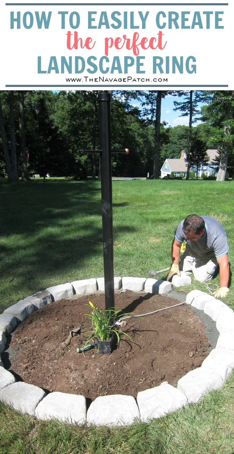 landscape a how yard ring and makeover to perfect circle create lamp post flower bed tnp