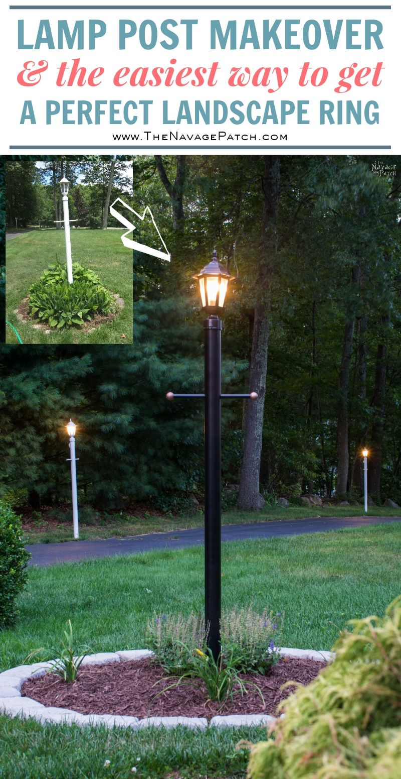 Lamp Post Makeover And How To Create A Perfect Circle