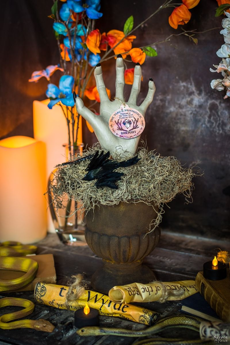Potted Rosemary {Potted Hand Halloween Prop}