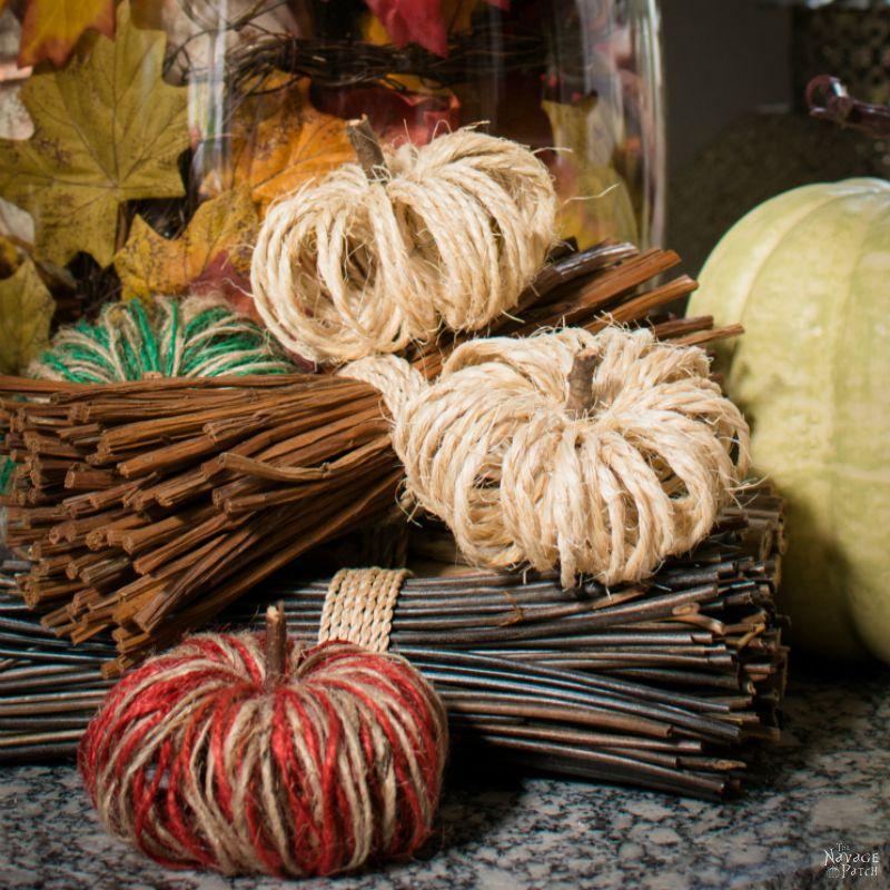 DIY Sisal Twine Pumpkins - TheNavagePatch.com