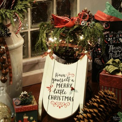 Stenciled Merry Little Sled (And Free Printable)