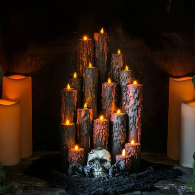 Halloween Blood Candles | DIY Halloween prop | How to make Halloween candles | Upcycled cardboard tubes | Upcycled and Repurposed Halloween decor | #TheNavagePatch #Upcycle #Repurposed #halloweendecorations #halloween #easydiy #DIY #halloweenparty #halloweencrafts #HarryPotter | TheNavagePatch.com