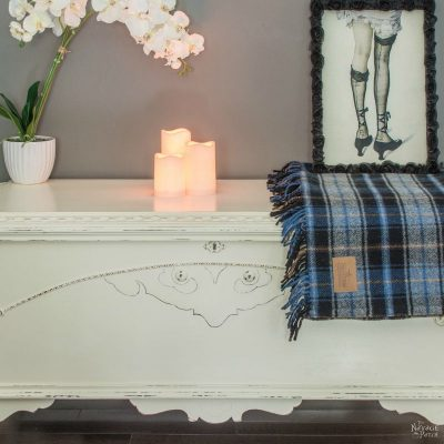 Cedar Chest Makeover - TheNavagePatch.com