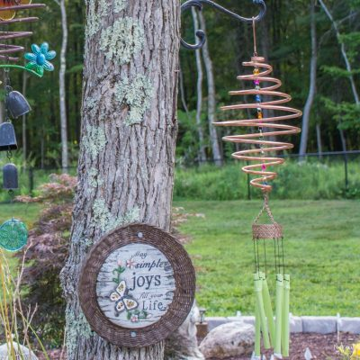 Coiled Copper Wind Chimes