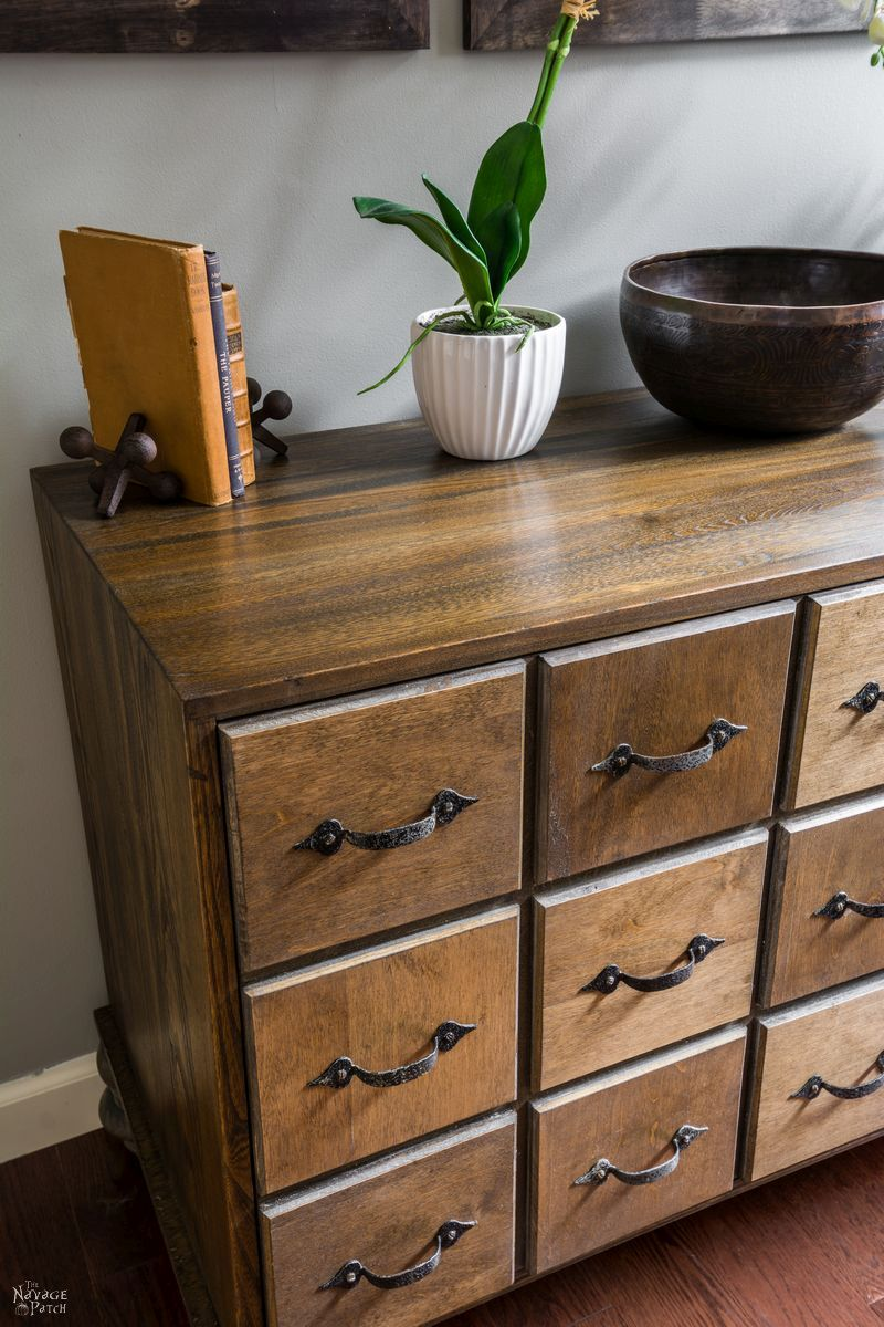 diy faux card catalog cabinet apothecary cabinet  page