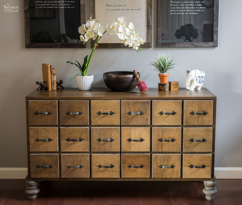 Diy Faux Card Catalog Cabinet Apothecary Cabinet The