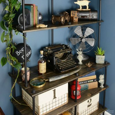 Of Pipe and Pine: DIY Industrial Bookcase