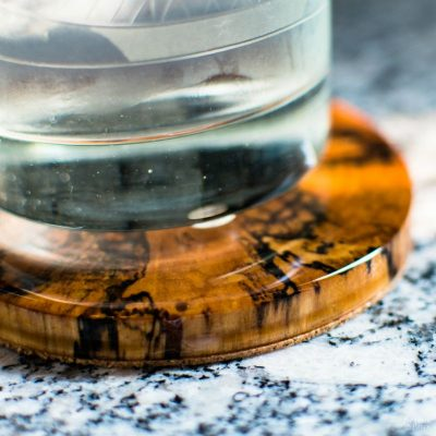 DIY Log Slice Coasters