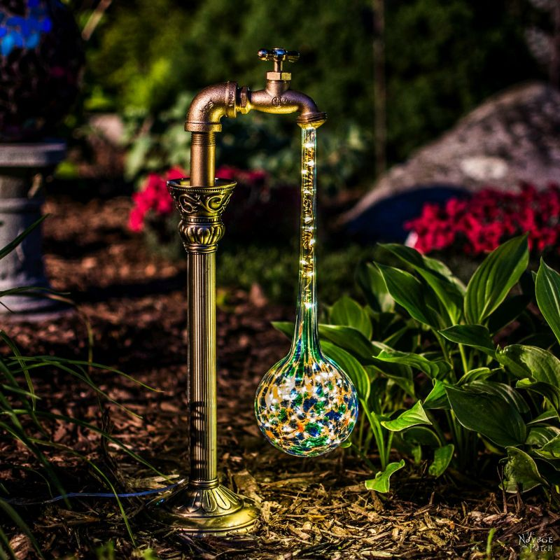 DIY Waterdrop Solar Garden Lights - The Navage Patch