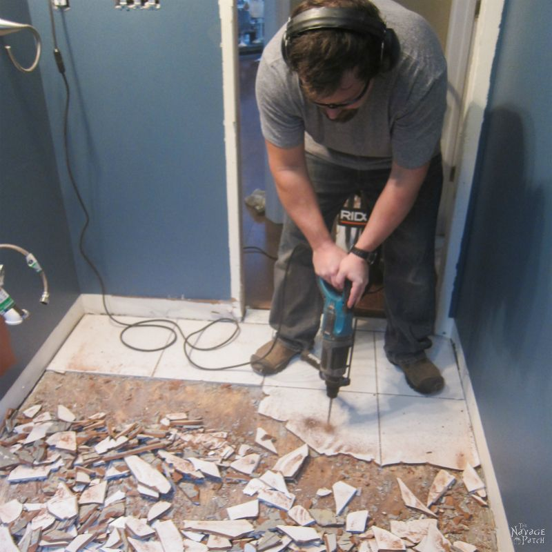 Guest Bathroom Renovation How To Lay Tile The Navage Patch